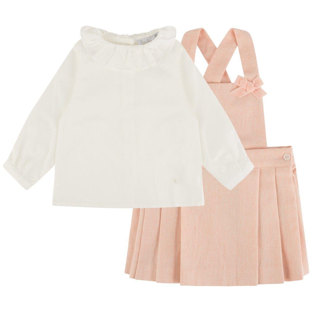 831135b181 Patachou Baby Girls Blouse & Pinafore Skirt Set | Baby and Boujee ...