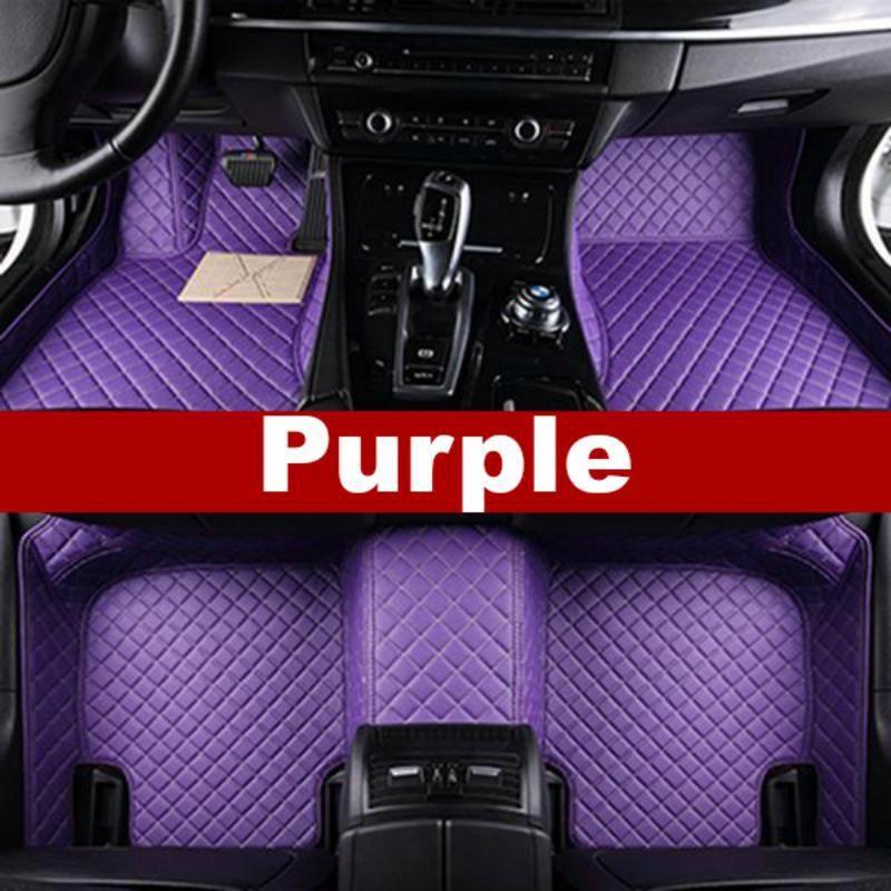 Luxury Diamond Stitched Floor Mats Purple Hummer Full Set Vwsharaninterior Blue Car Accessories Custom Car Floor Mats Purple Car