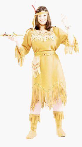 Forum Novelties Women's Native American Indian Maid Plus Size Costume, Brown, Plus Forum Novelties http://www.amazon.com/dp/B002N3AYYE/ref=cm_sw_r_pi_dp_c-9Kub0N486MG