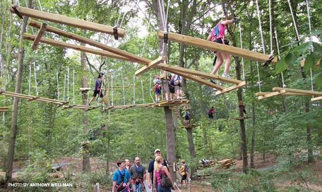 West Bloomfield Adventure Park Offers Zip Line Climbing Fun Adventure Park Ziplining Outdoors Adventure