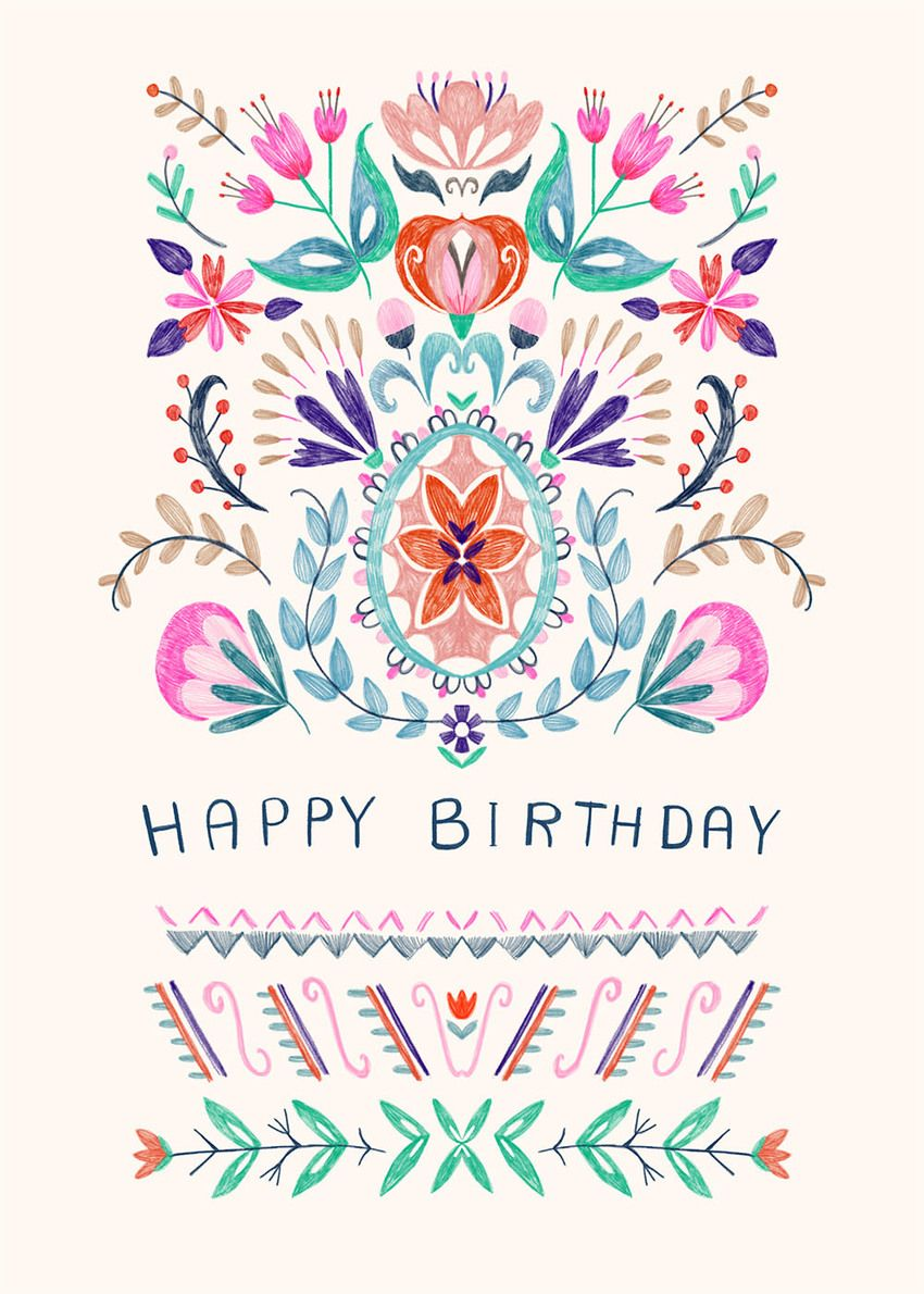 Advocate Art London Marbella New York Happy Birthday Floral Happy Birthday Greetings Friends Happy Birthday Cards