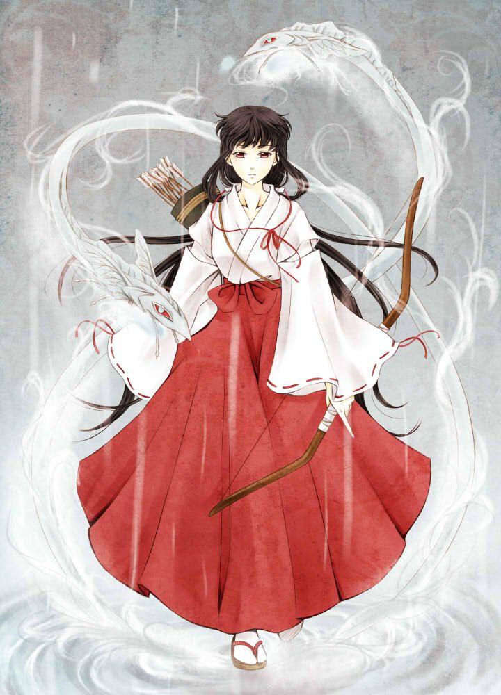 Anime Characters Kimono : Inuyasha kikyo anime and games pinterest