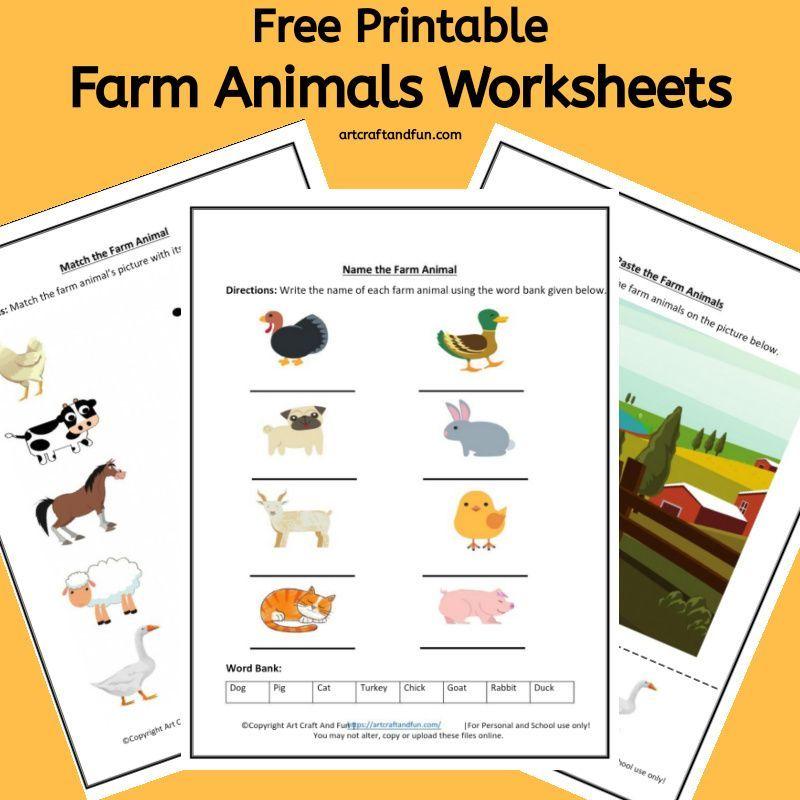 Free Printable Farm Animals Worksheets For Kindergartners