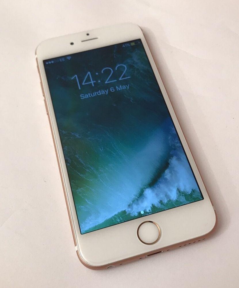 Apple Iphone 6s 16gb Rose Gold Unlocked Smartphone In 2020