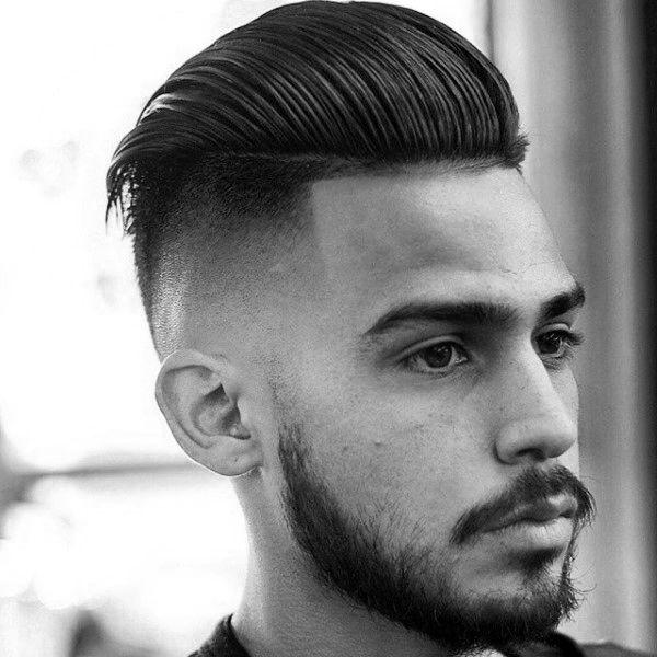Skin Fade Haircut For Men 75 Sharp Masculine Styles Slick Back Haircut Fade Haircut Taper Fade Haircut