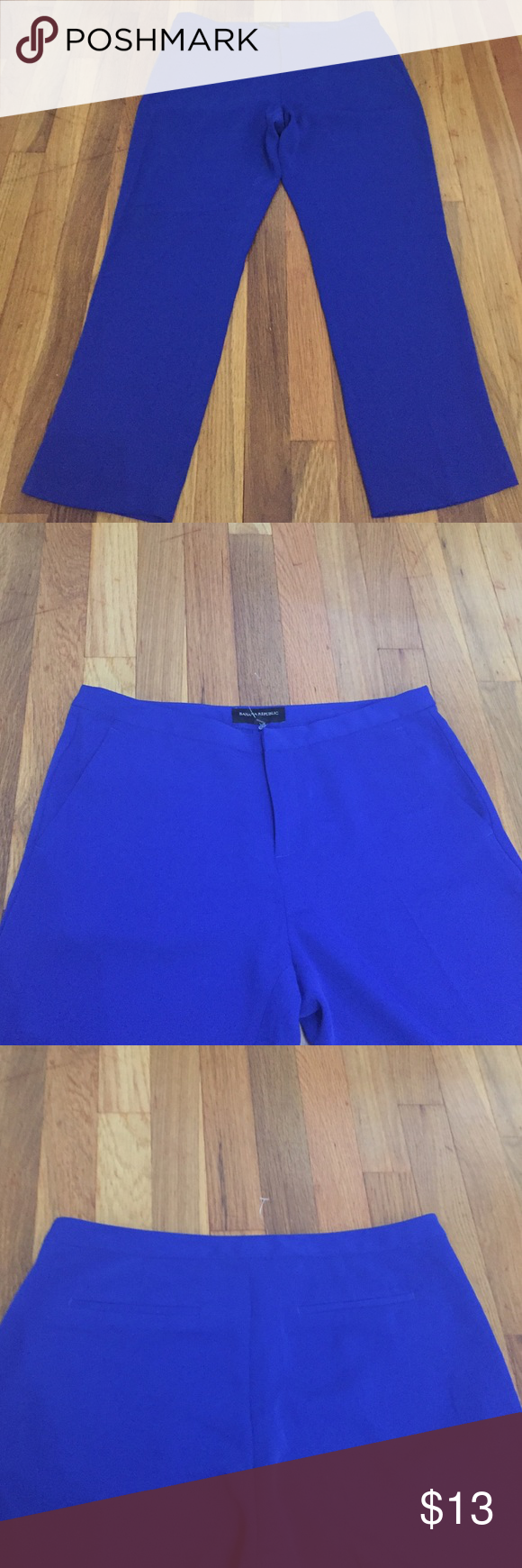 Banana republic pants Only worn once ankle cropped really light material pants look great on 2 front pockets 2 back inseam 26 Banana Republic Pants Ankle & Cropped