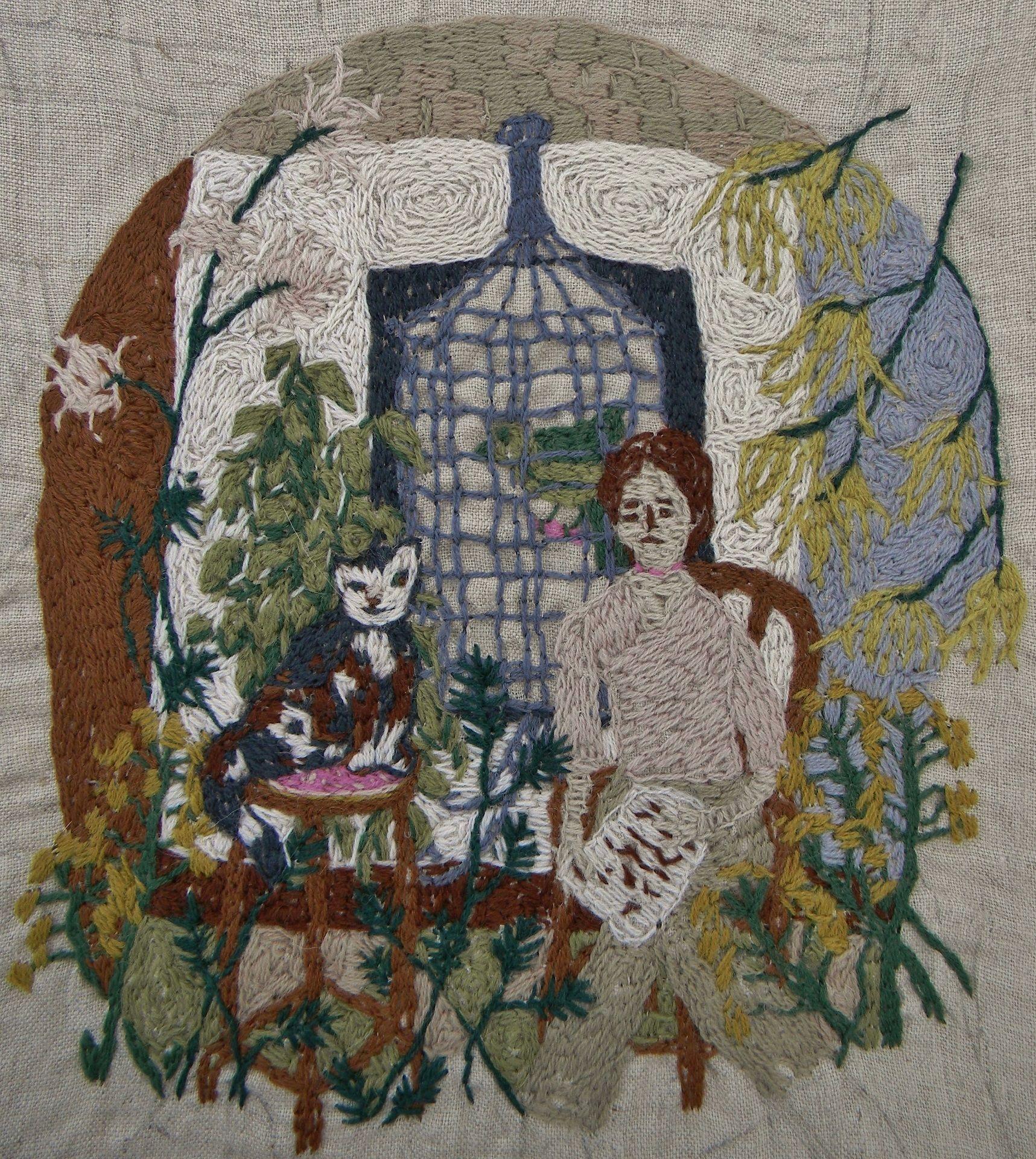 michelle kingdom embroidery artist los angeles california stitch pinterest. Black Bedroom Furniture Sets. Home Design Ideas