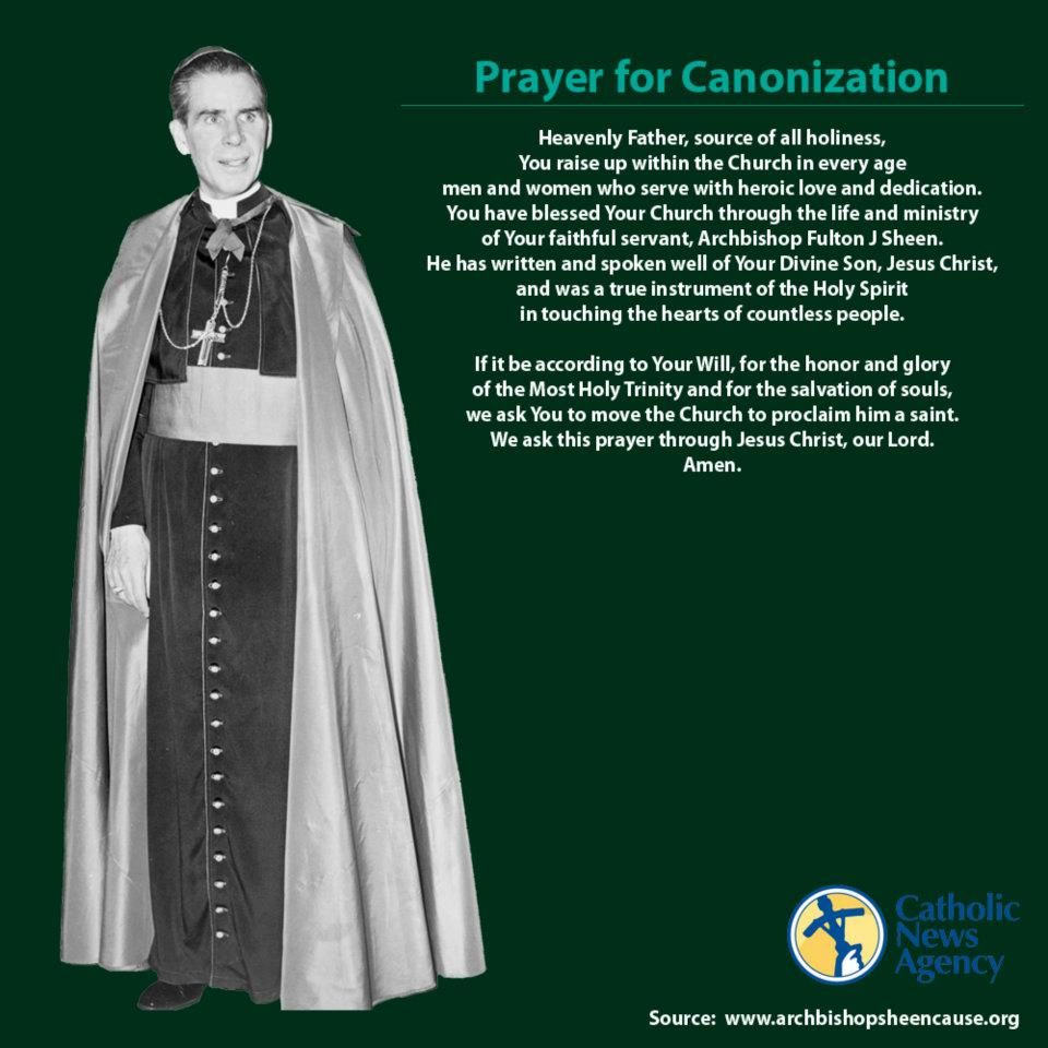 Fulton Sheen Quotes On Marriage: Fulton Sheen: Official Prayer For Cannonization