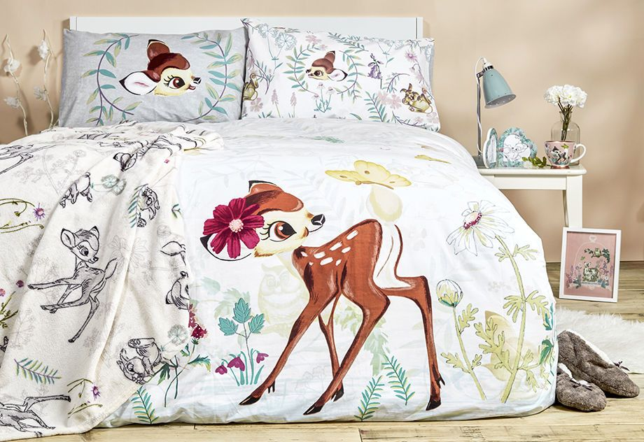 Disney Bambi Duvet Reversible Bed Set Primark Single Double
