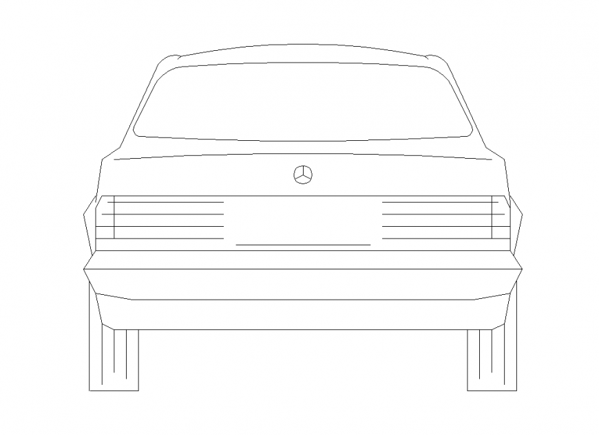 Car Design Back Side View With Vehicle View Dwg File Car Design Side View Design