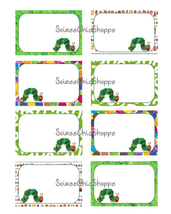 Custom Printable Hungry Caterpillar Birthday Party Candy Labels – Hungry Caterpillar Birthday Card