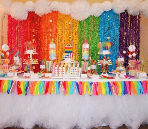 Birthday Table Presentation: Sweet Simplicity Bakery: Rainbow Theme Birthday Party
