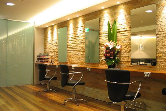 Urban beauty salon so while you work out the business for Beauty salon designs for interior
