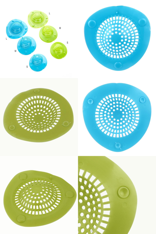Visit to Buy] Green Silicone Bath Kitchen Waste Sink Strainer Filter ...