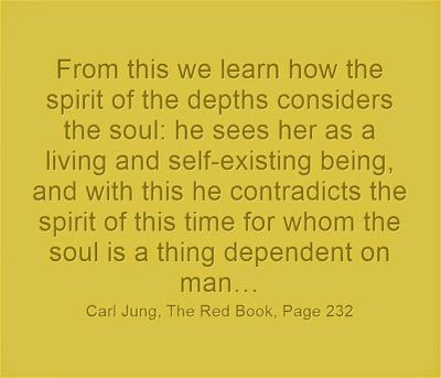 From this we learn how the spirit of the depths considers the soul: he sees her as a living and self-existing being, and with this he contra...