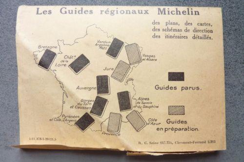 Details Sur Michelin Demande D Itineraires Gratuit Annee 1930 Les