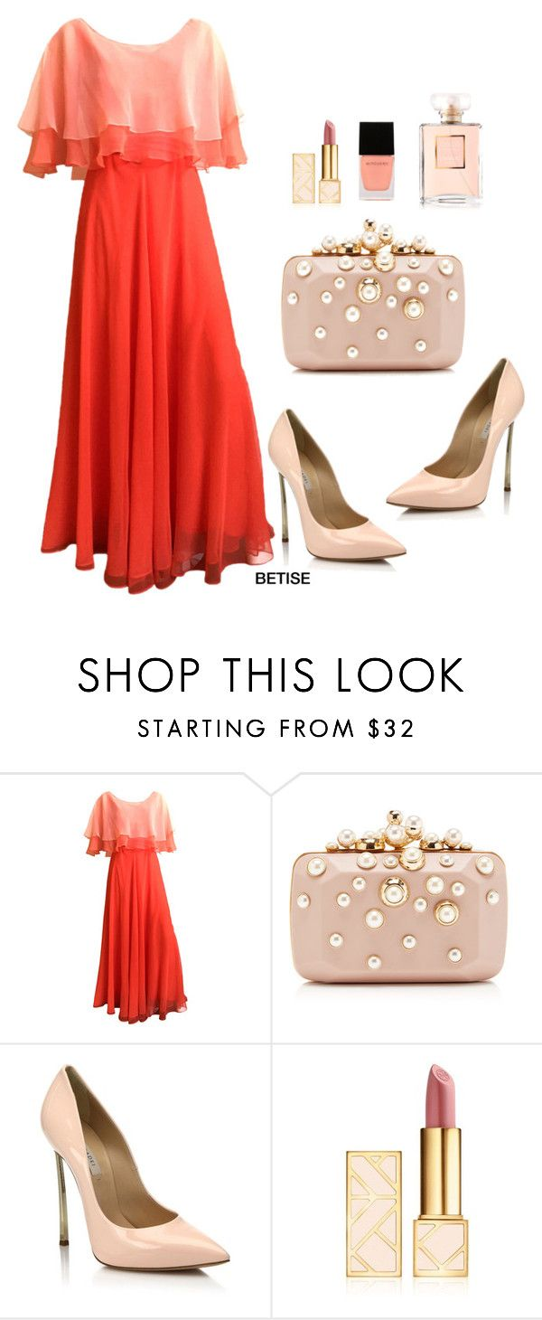 """""""JUST ORANGE.............🎈🎈🎈"""" by betty-sanga ❤ liked on Polyvore featuring Mollie Parnis, Elie Saab, Casadei, Tory Burch and Witchery"""