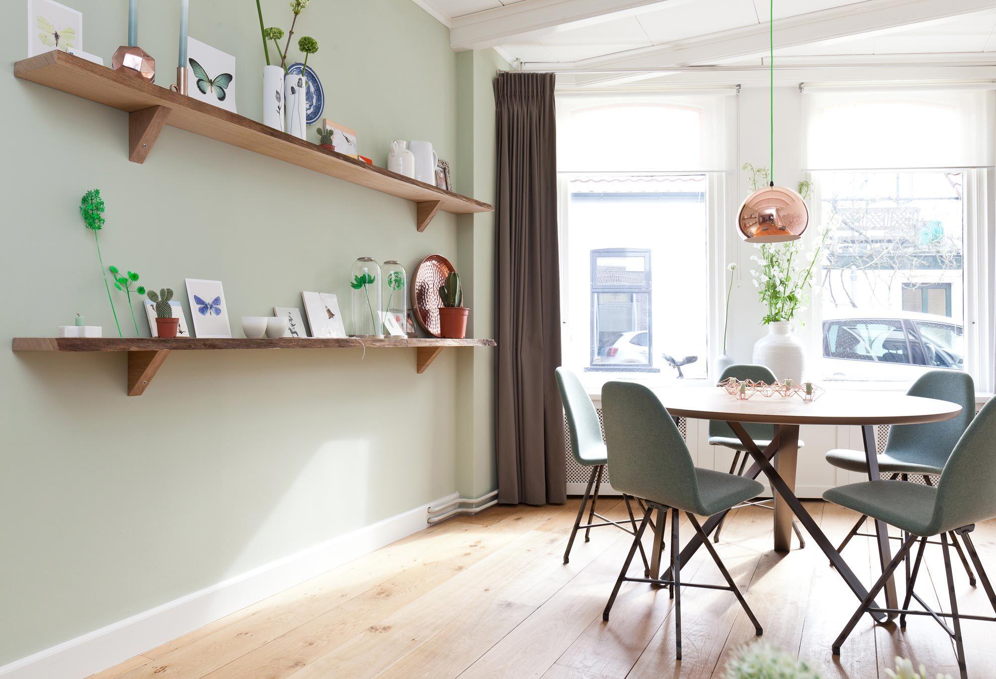 wandplanken - Woonideeen | Pinterest - Eethoek, Eetkamer en Kleur