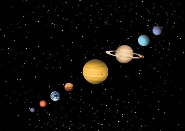 Colorful solar system planets vector illustrations for Outer space planets