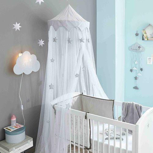 Cuna con barrotes blanca con motivo de estrella An. 131 | Babies ...