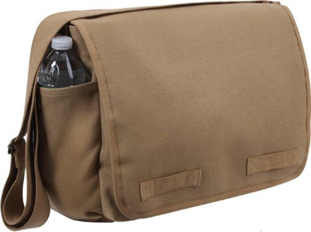 Amazon.com: Black Classic Army Messenger Heavy Weight Shoulder Bag: Clothing
