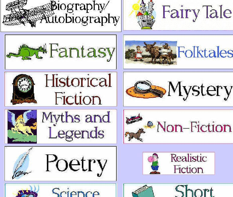Harry Potter Book Genre : Genres of literature with pictures nursery rhymes