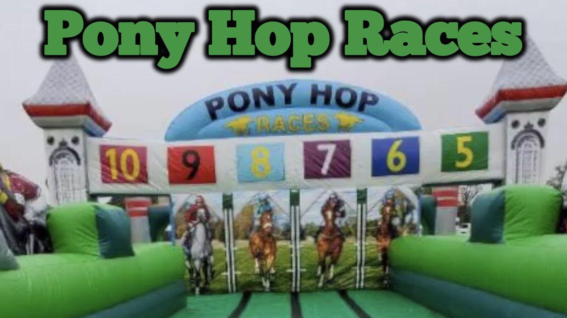 Pony Hop Races Bounce house parties, School carnival