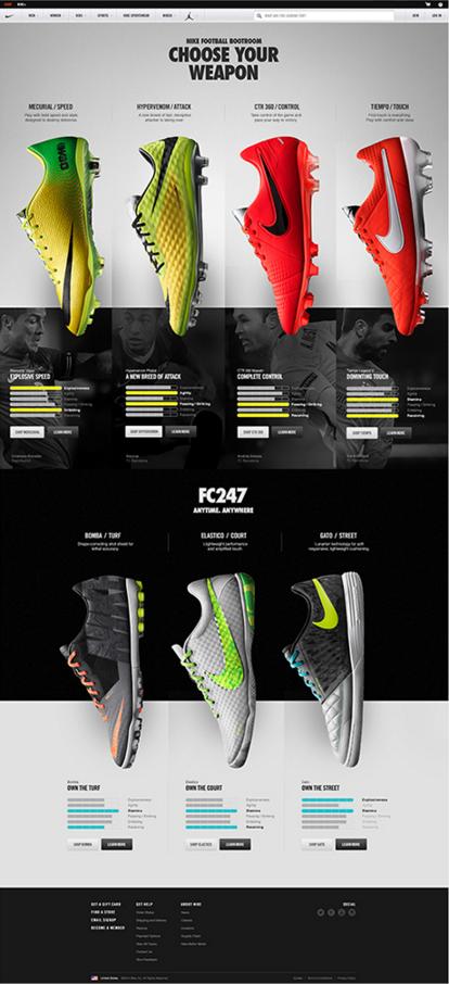 1a47afeb521c Nike Football Website by Ryan Mendes  website  design  nike  football