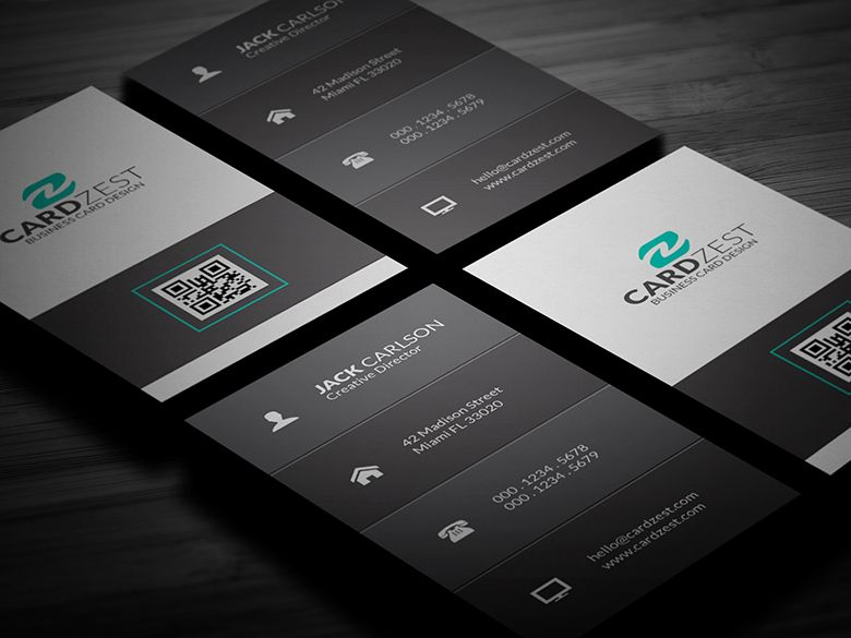 Download Httpcardzestcomcleanandbasicverticalbusiness - Business card vertical template