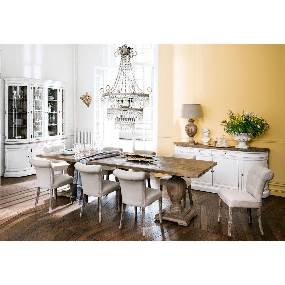 Tavolo per sala da pranzo in pino riciclato L.300 cm | Pine dining ...