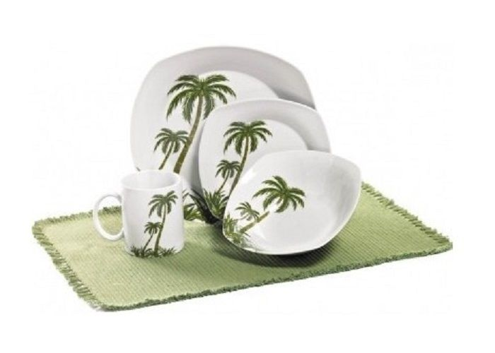 This Dinnerware Set Features A Palm Tree Motif In A Tropical Setting  sc 1 st  tagranks.com & Exciting Palm Tree Melamine Dinnerware Pictures - Best Image Engine ...