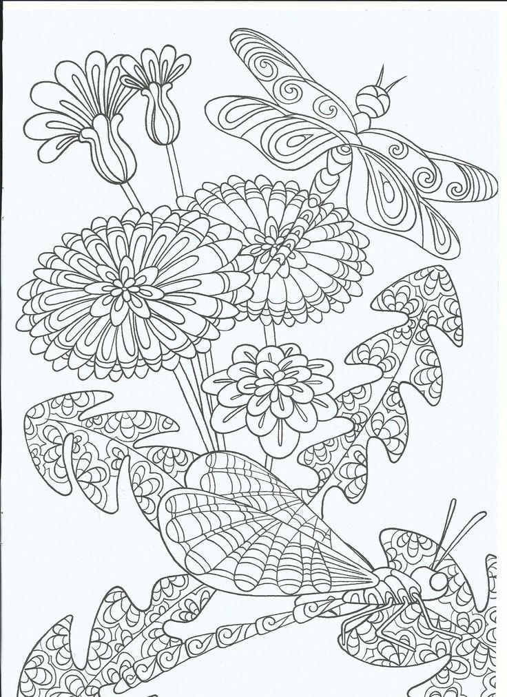 Libelle At Blumen 5994 32 Ausmalbilder Kostenlos Kids Patrones