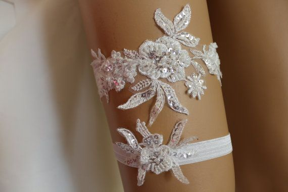 FREE SHİP Wedding Gartersİvory Lace Bridal by byPassion on Etsy