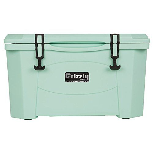 Grizzly 40 Quart Sea Foam Green Cooler You Can Find More Details By Visiting The Image Link This Is An Amazon Affili Camping Coolers Cooler Outdoor Cooler