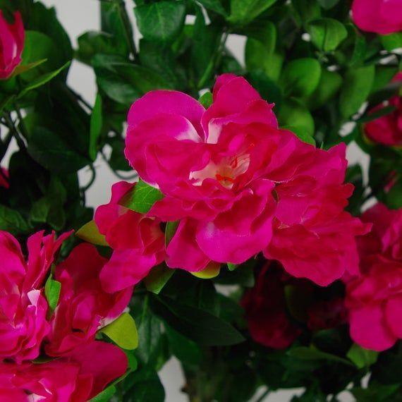 100cm Premium Artificial Azalea Pink Flowers Potted Plant 100cm Artificial Aza 100cm Artificial Aza Azalea In 2020 Flower Pots Flower Pots Outdoor Pink Flowers