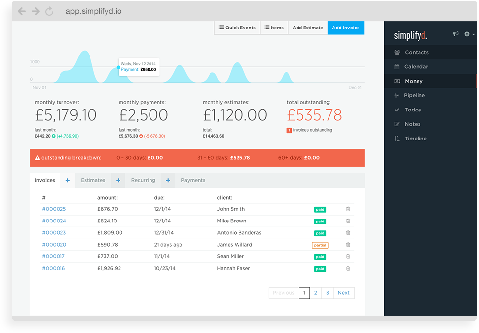 Simplifyd Beautifully Simple Software To Manage Your Small Business Small Business Accounting Software Software