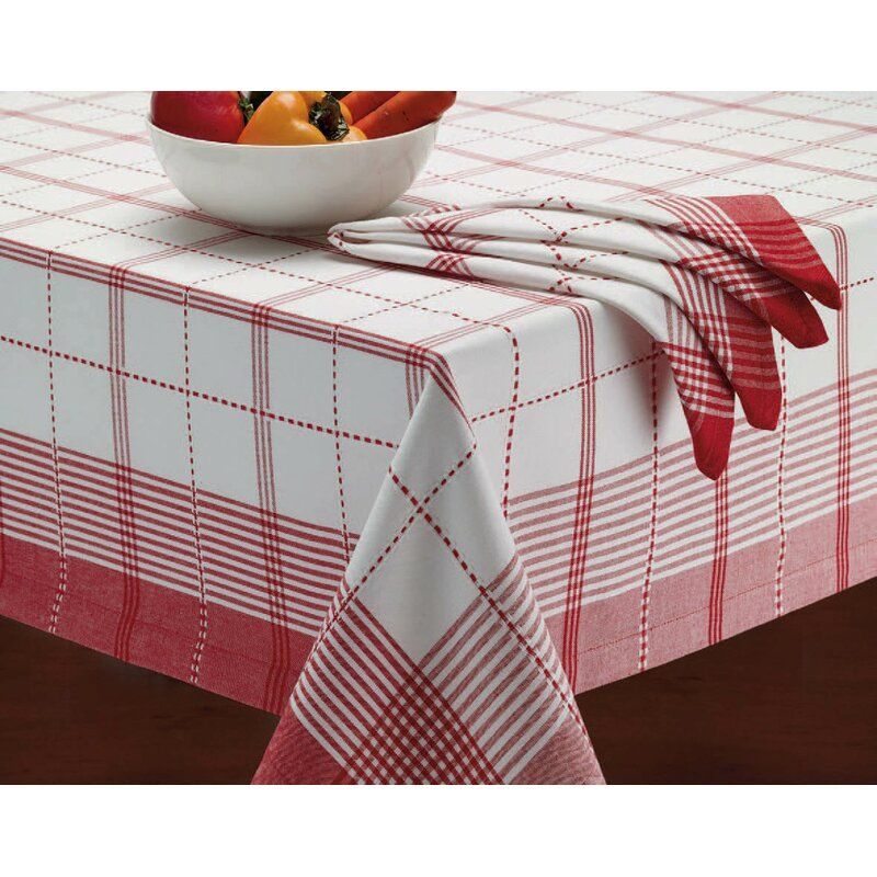 Stygg Ambler Tablecloth In 2020 Plaid Tablecloth Table Cloth White Table Cloth