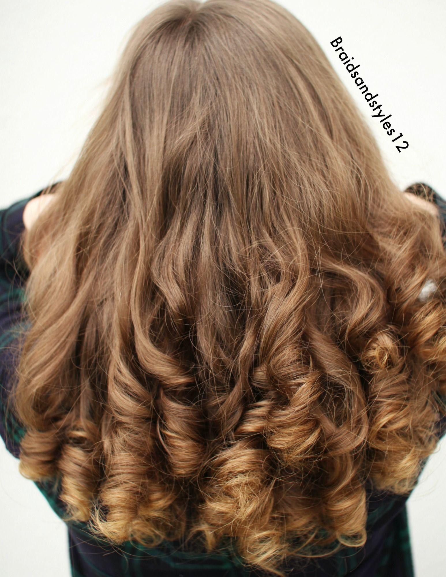Heatless curls by braidsandstyles braidspiration pinterest