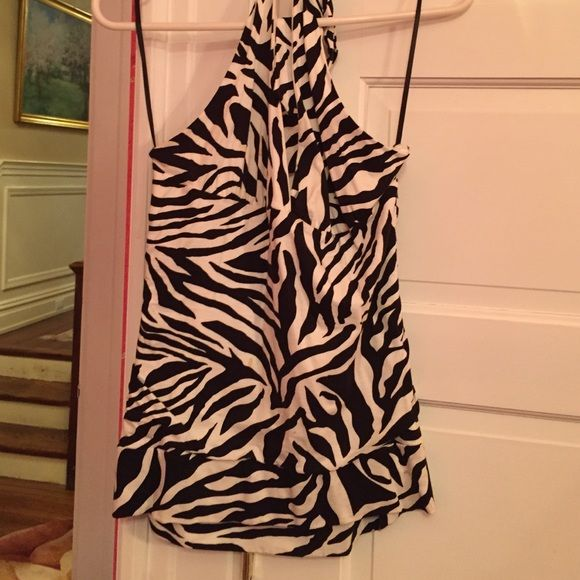 H&M halter top black and white size medium H&M halter top black and white size medium. Stains small pictured H&M Tops