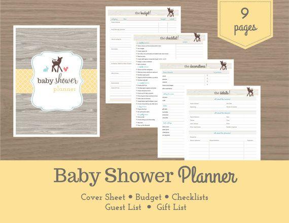 baby shower supply checklist