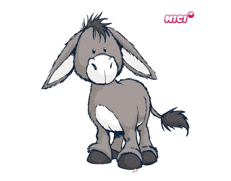 wandtattoo nici donkey stehend  esel wandtattoo und