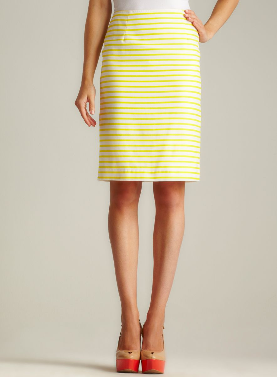52512eda8 Isaac Mizrahi Striped Pencil Skirt | My Style | Skirts, Clothes ...