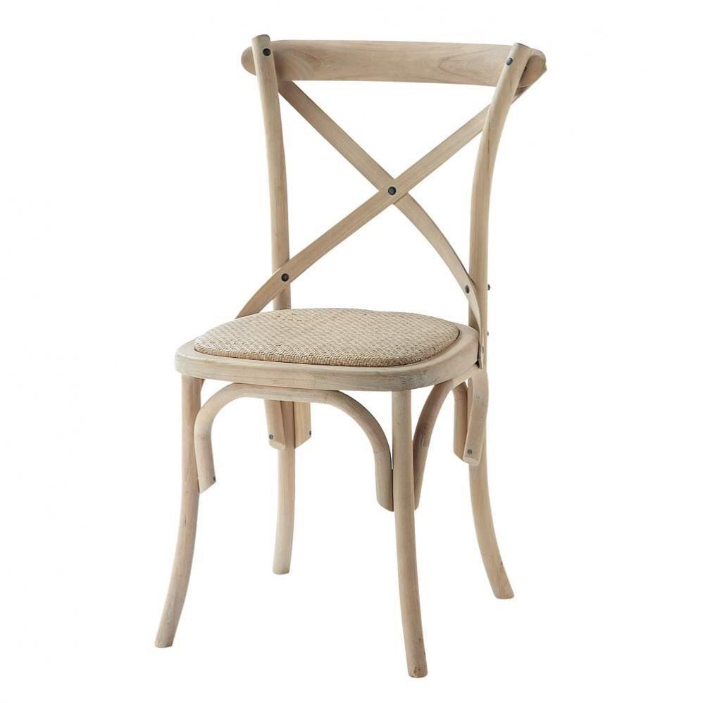 chaise en rotin naturel et bouleau tradition maison du monde 89