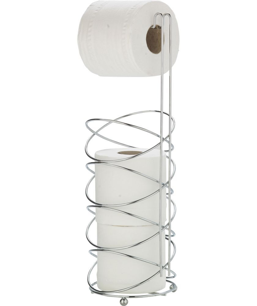 Buy Modern Swirl Chrome Plated Toilet Roll Holder - Silver at Argos ...