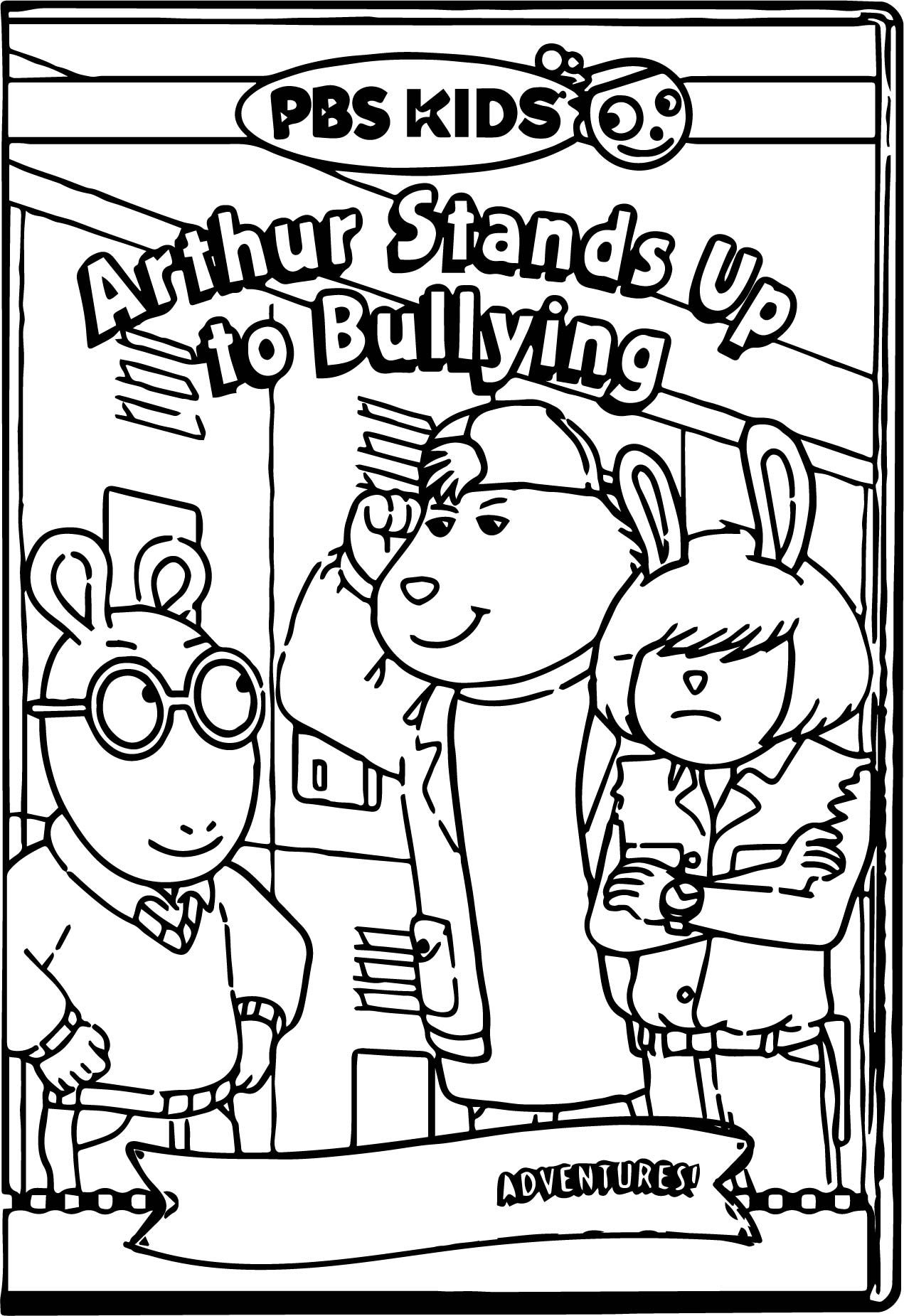 Cool Arthur Pbs Kids Coloring Pages