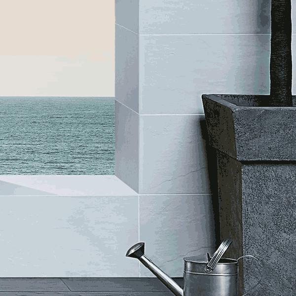ardosia perola slate effect glazed porcelain tile black. Black Bedroom Furniture Sets. Home Design Ideas