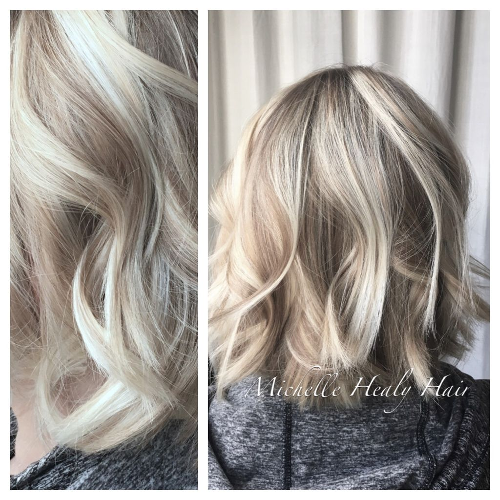 Keeping It Cool For Winter To Create This Cool Toned Blonde We Mixed Pale Blonde Highlights With Dark Blonde Cool Blonde Hair Hair Styles Blonde Highlights