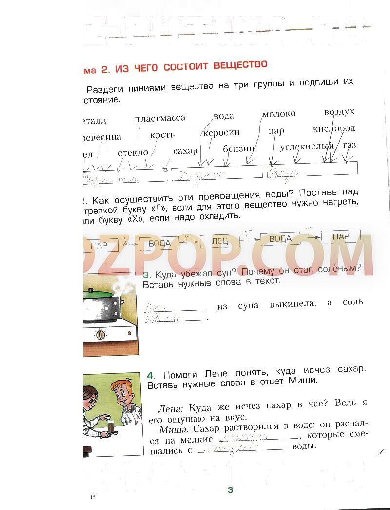 Спиши.ру по окружающему рабочая тетрадь 3 класс 1 часть