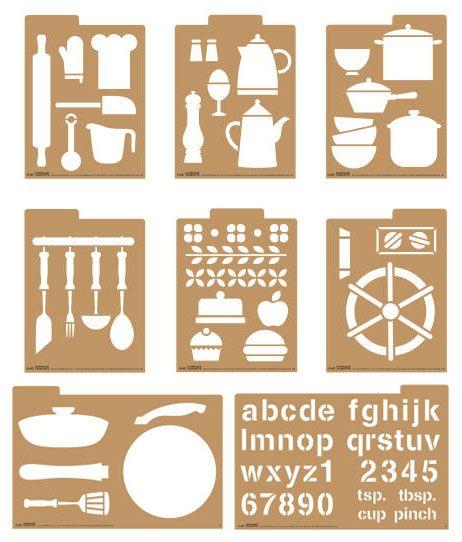 kitchen stencil | craft | pinterest | stenciling, scrapbooking