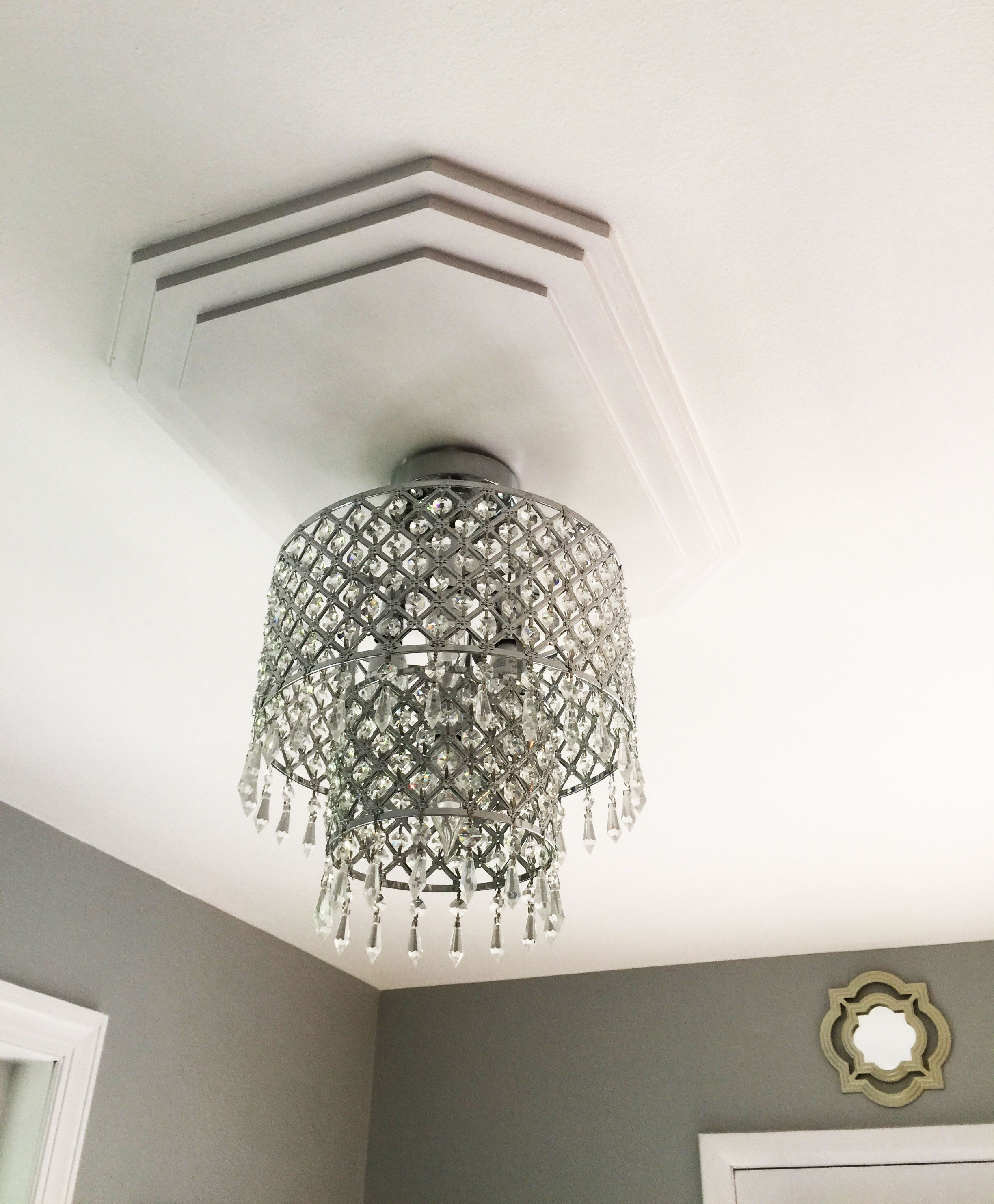 Adding A Square Ceiling Medallion Is A Great Contrast To An Ornate